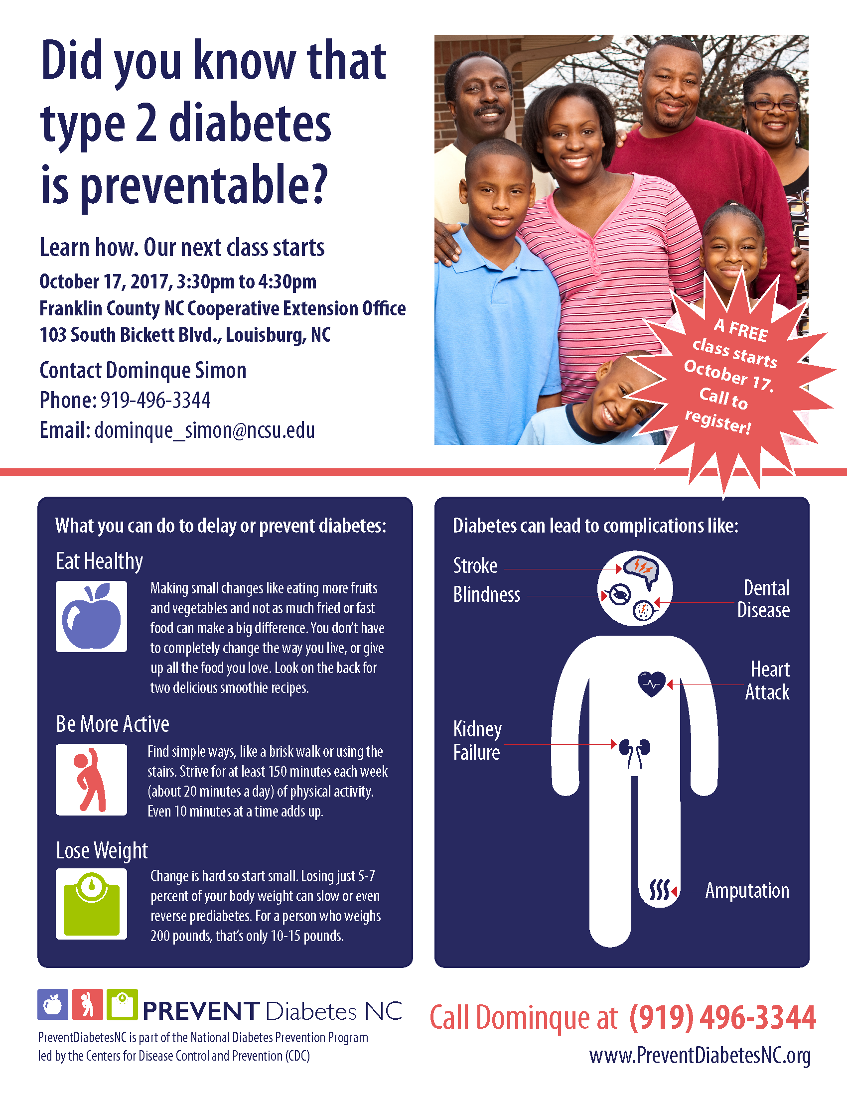Diabetes Prevention poster