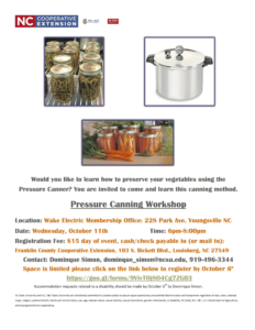 Cover photo for Pressure Canning Workshop