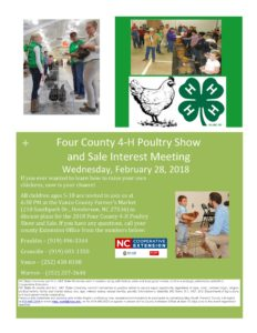 Cover photo for Four County 4-H Poultry Show and  Sale Interest Meeting