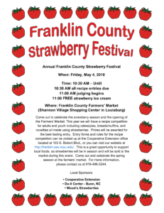 Cover photo for 2018 Strawberry Festival