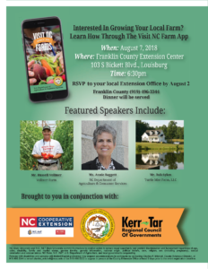 Cover photo for Visit NC Farms App Interest Meetings Scheduled