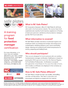 Cover photo for Food Safety Certification Course