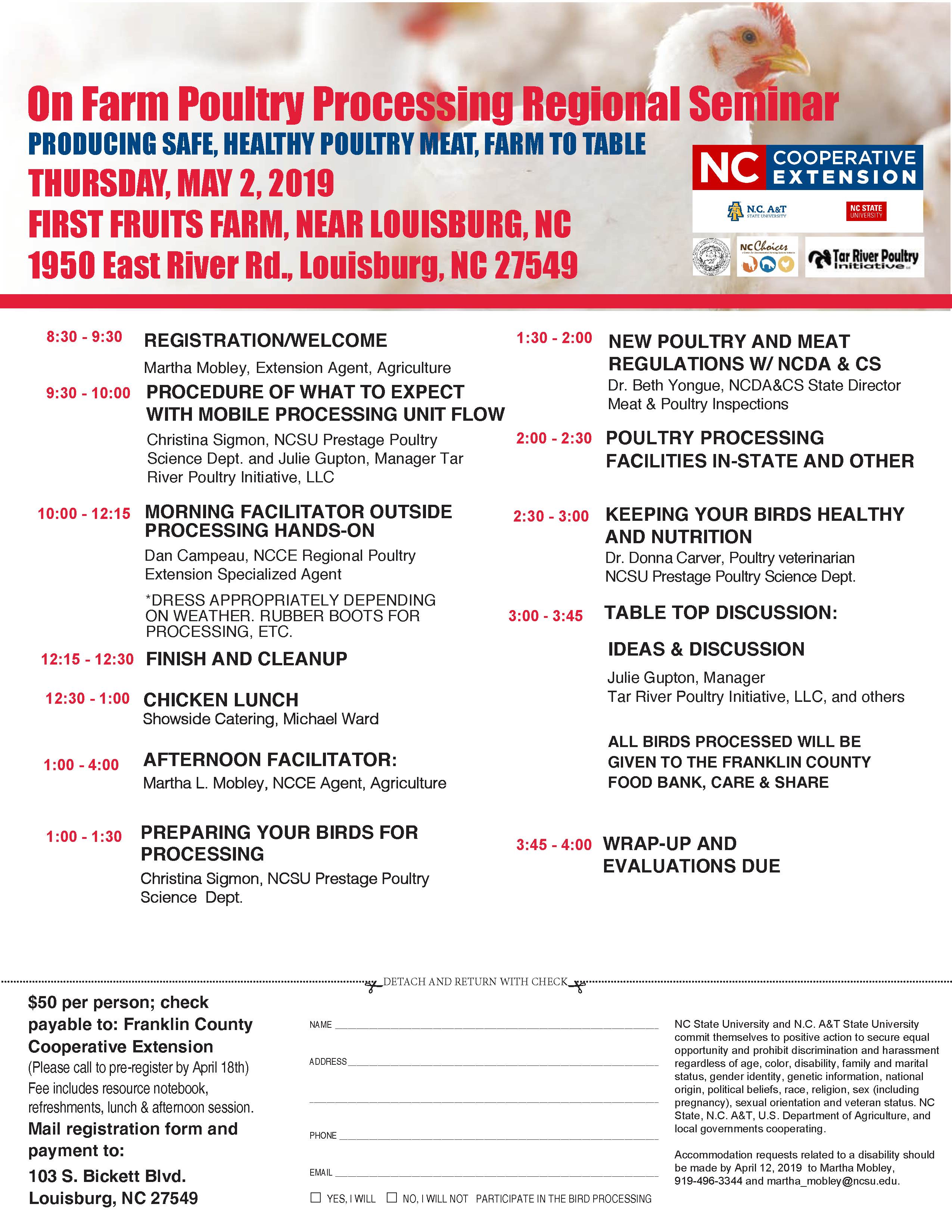 On Farm Poultry Processing Regional Seminar | North Carolina