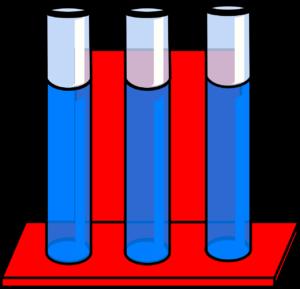 imaged of three liquid filled test tubes
