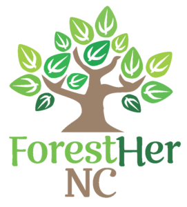 Image of ForestHer NC logo, a tree with ForestHer NC below.