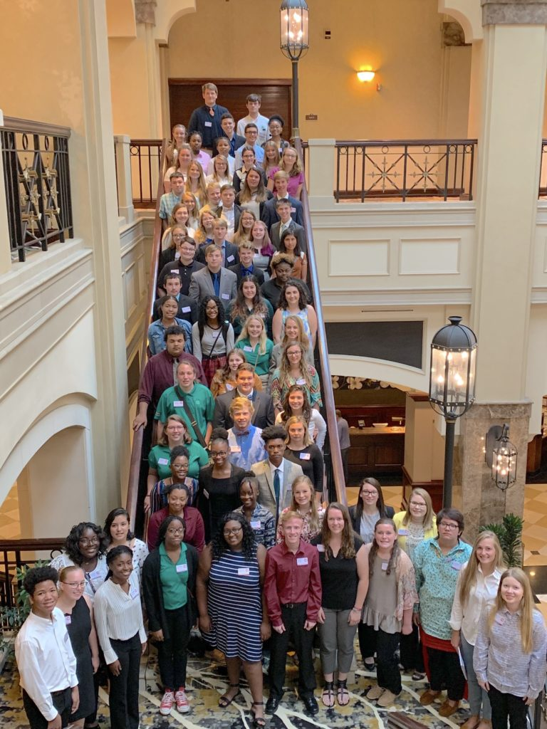 Image of the 2019 Youth Summit attendees at the 2019 North Carolina Association of County Commissioners Youth Summit.