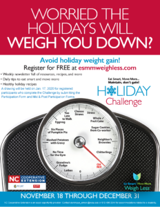 Image of the Holiday Challenge flyer with dates and registration information.