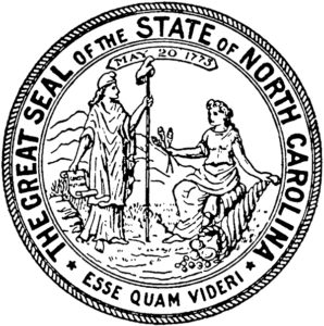 image of the state of NC seal