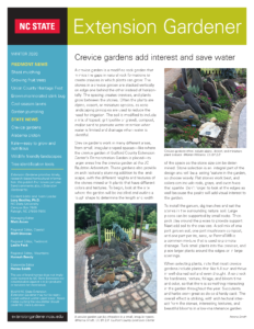 image of the Winter 2020 Piedmont edition of Extension Gardener Newsletter