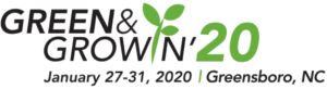 Image of GreenNGrowin 2020 logo with dates, location
