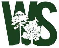 image of the N.C. Woodland Stewards logo with a picture of 2 trees in front of the letters W and S.