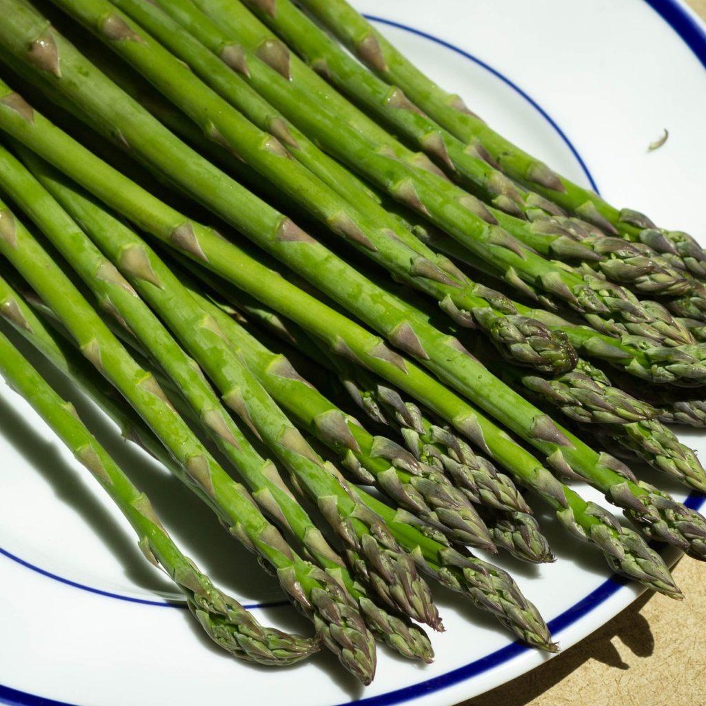 image of asparagus on a serving platter