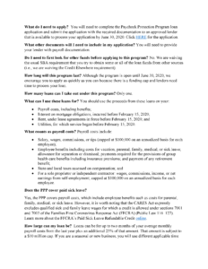 Image of page 2 of the Paycheck Protection Program Fact Sheet