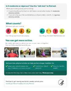 What's Your Move? Move your Way flyer page 2 with activity tips for adults