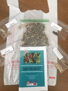 seeds packets and can you dig it brochure