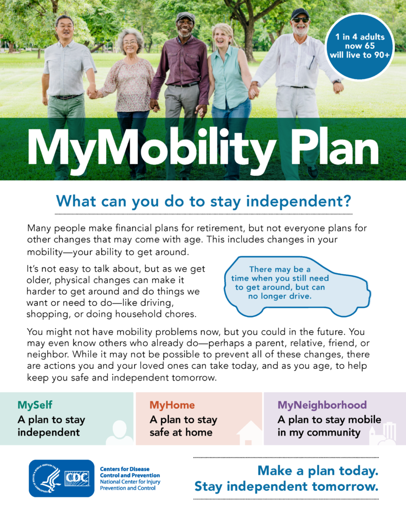 My Mobility Plan Flyer Page 1