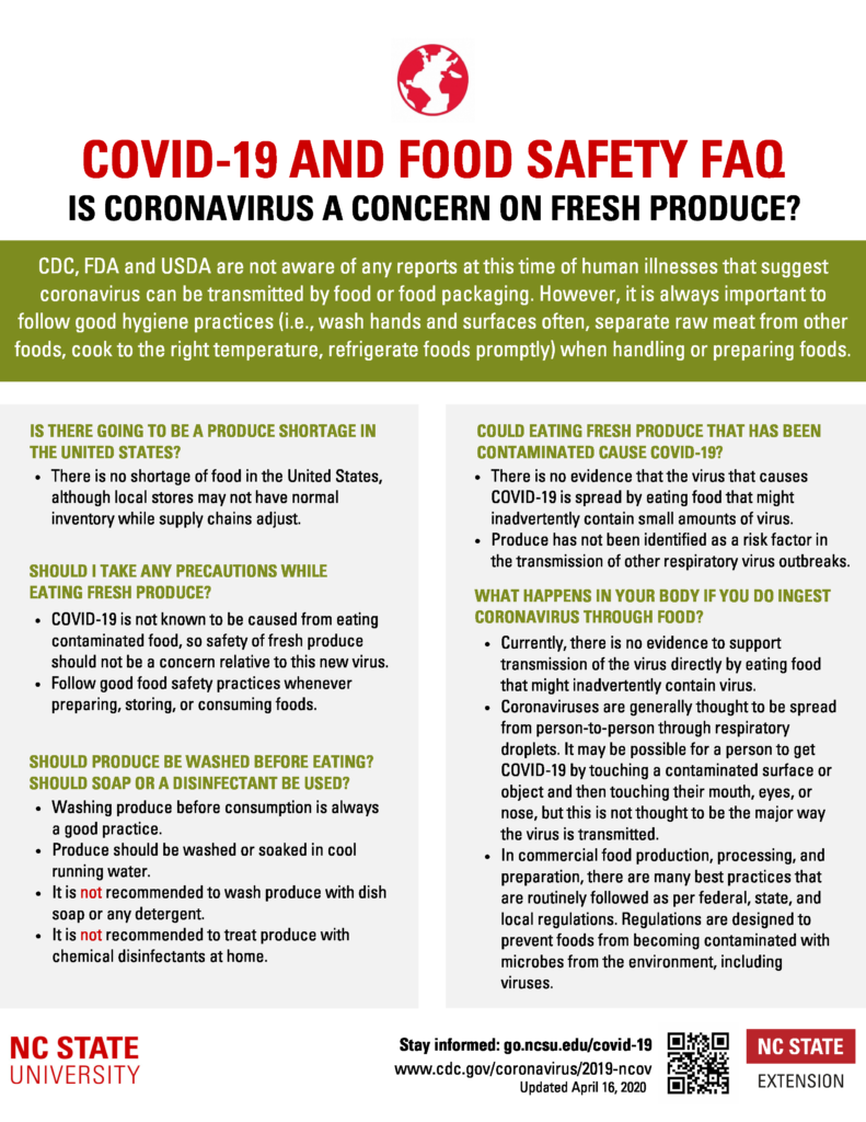 Retail Produce Food Safety COVID-19 Flyer