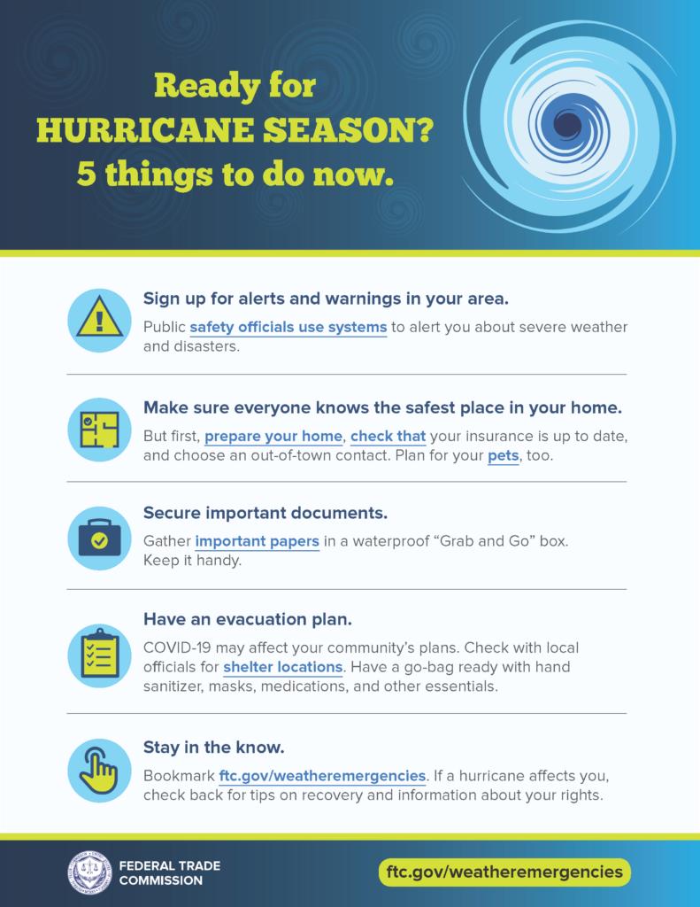 Hurricane season prep flyer