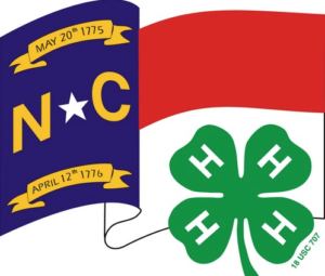 4-H logo and NC flag