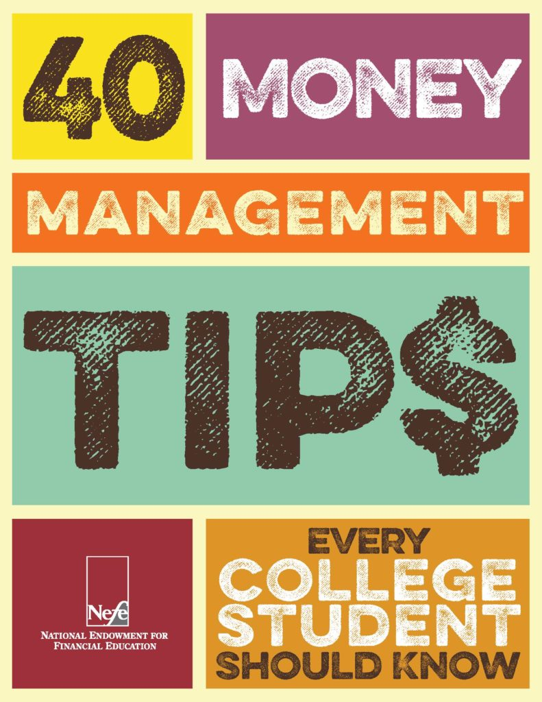 40 money management tips for College Students book cover