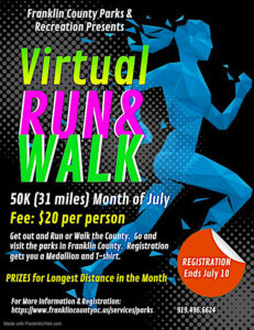 Franklin County virtual walk flyer