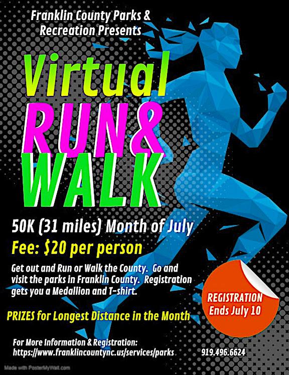Franklin County virtual walk flyer