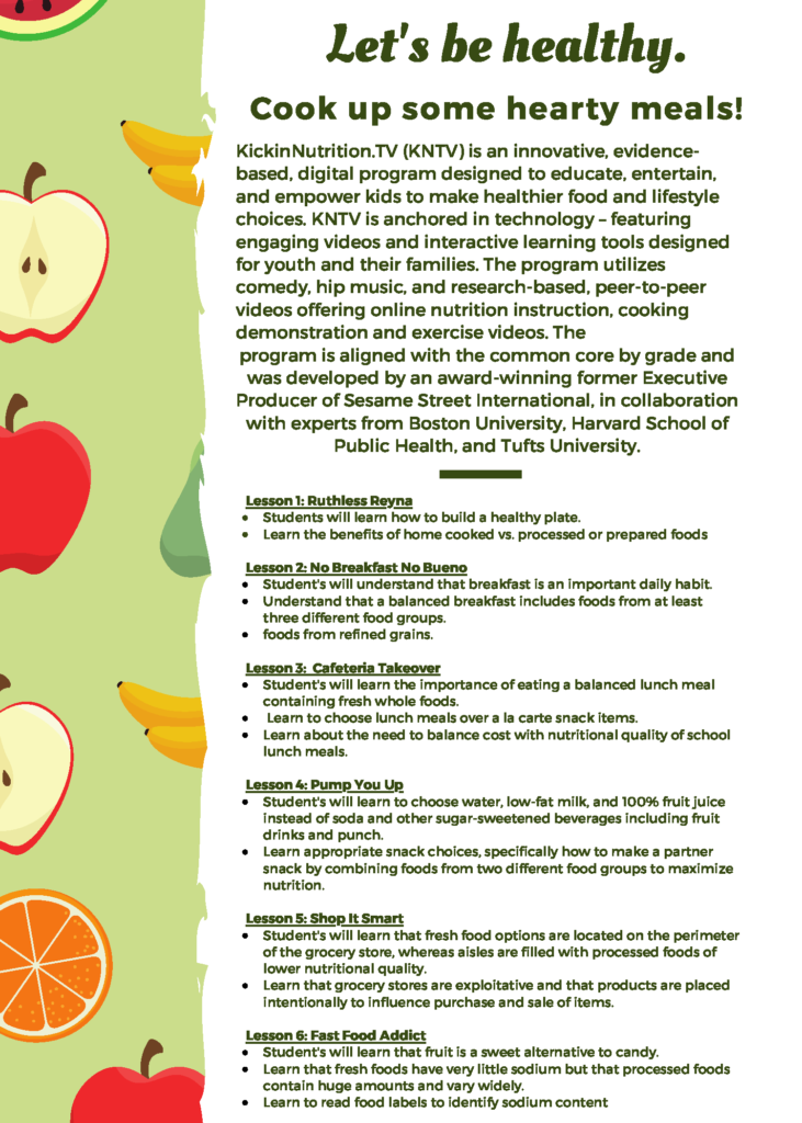 Kickin' Nutrition flyer page 2
