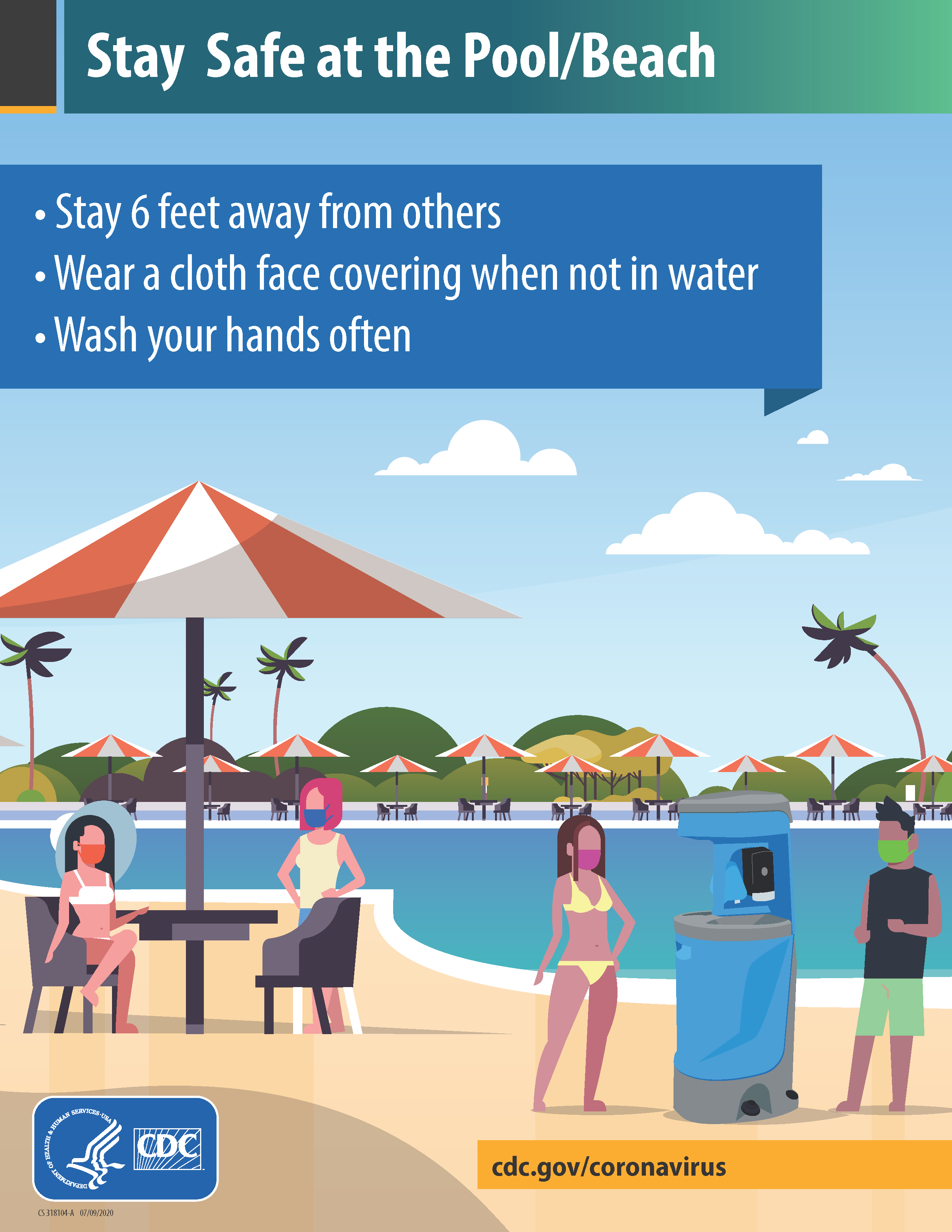 Stay safe at pool beach tips flyer