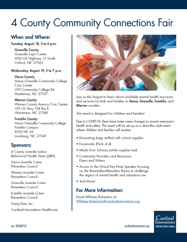 2020 Community Connections Fair flyer