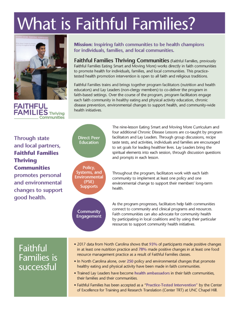 Faithful Families Thriving Communities Overview page 1
