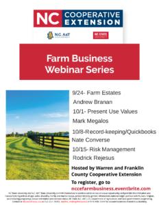 Farm business webinar flyer