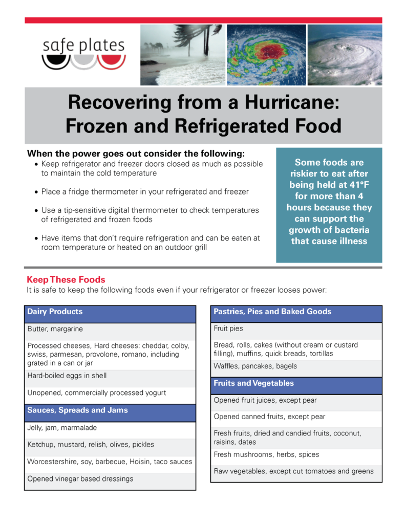 Recovering from a Hurricane: Fresh and Frozen foods page 1