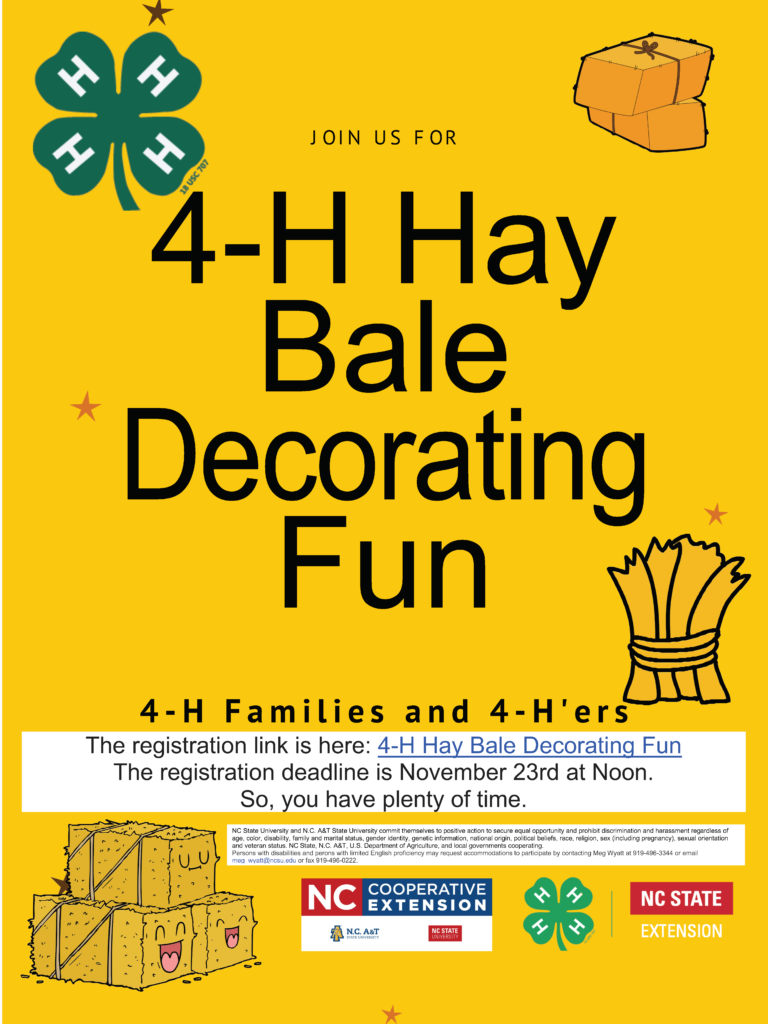 4-H Hay Bale Decorating Competition flyer