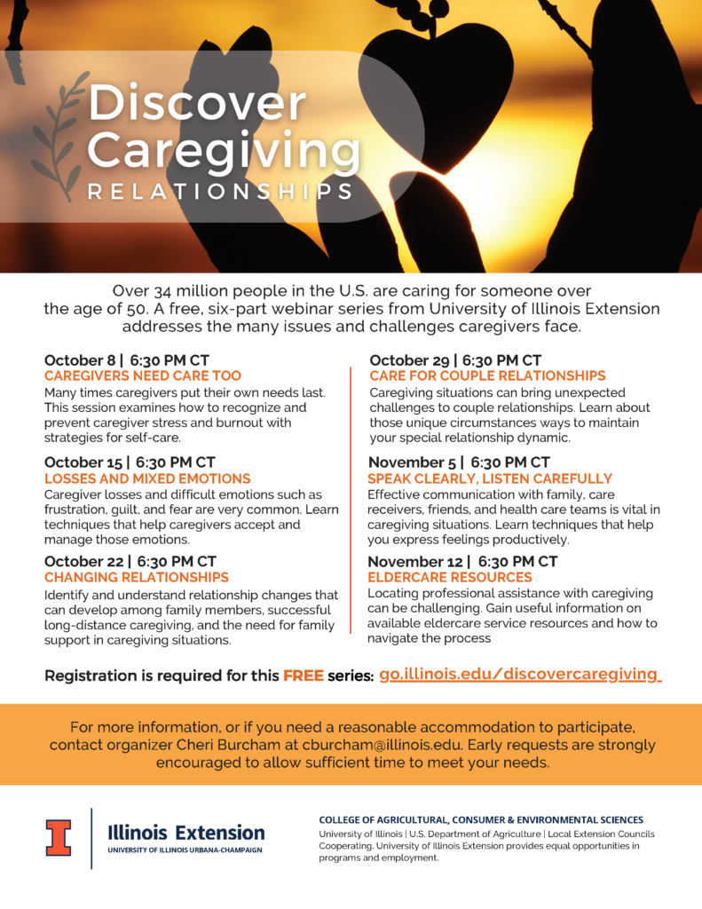 Discover Care Giving Series flyer