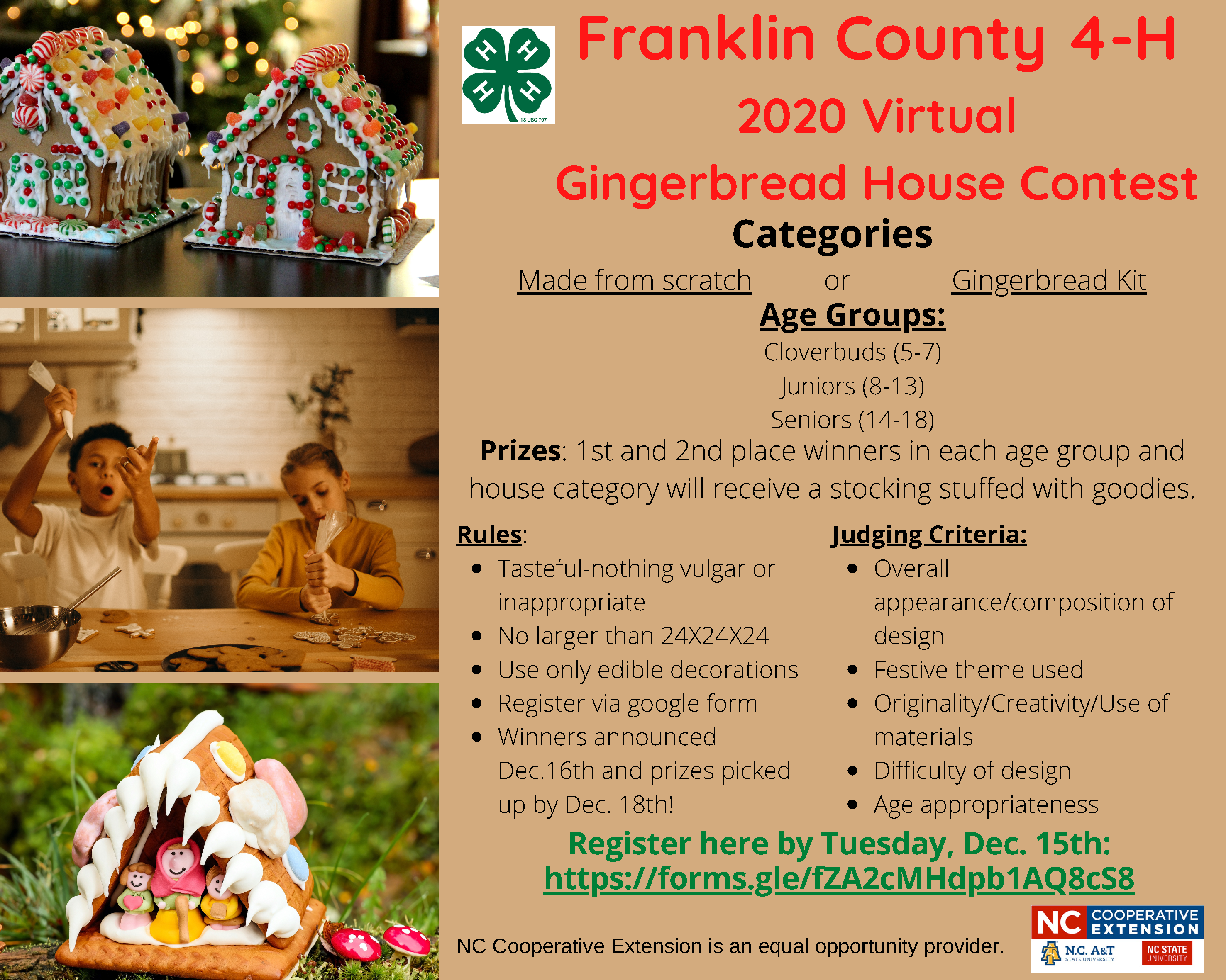 Gingerbread House Festive Recipes Holiday Photo Collage