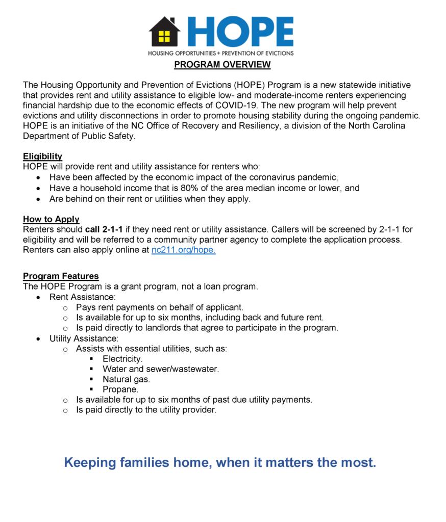 HOPE Factsheet page 1