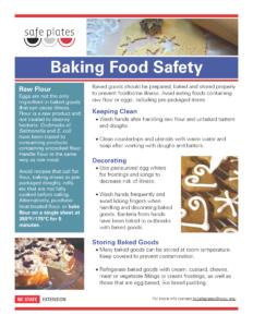 Safe Plates Baking Food Safety fact sheet