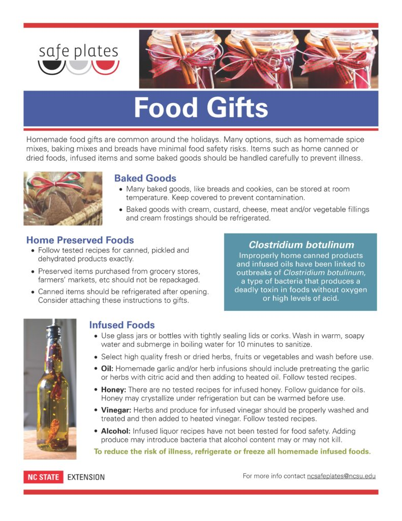 Safe Plates Food Gifts Fact Sheet