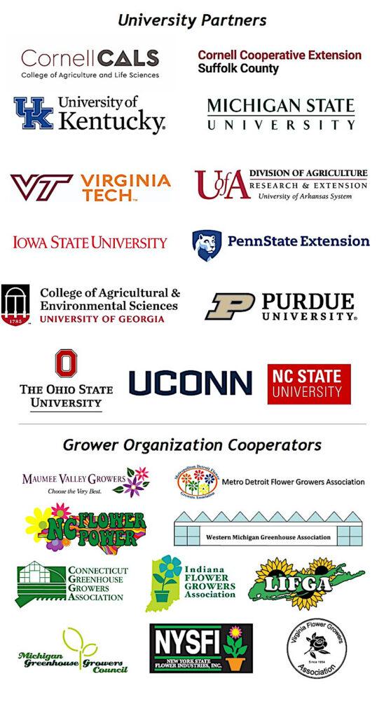 University partner logo images