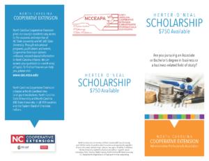 2021 Herter O'Neal Scholarship informational flyer