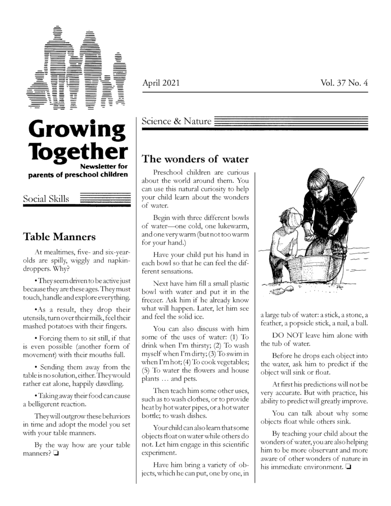 Growing Together April 2021 Page 1