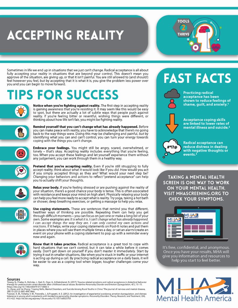 Accepting Reality Fact Sheet