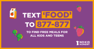 Text FOOD to 877-877 flyer