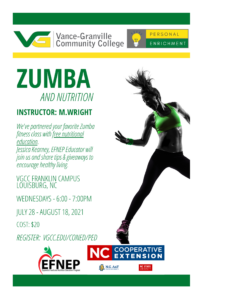 Exercise class flyer and silhouette of a excerciseruette of e