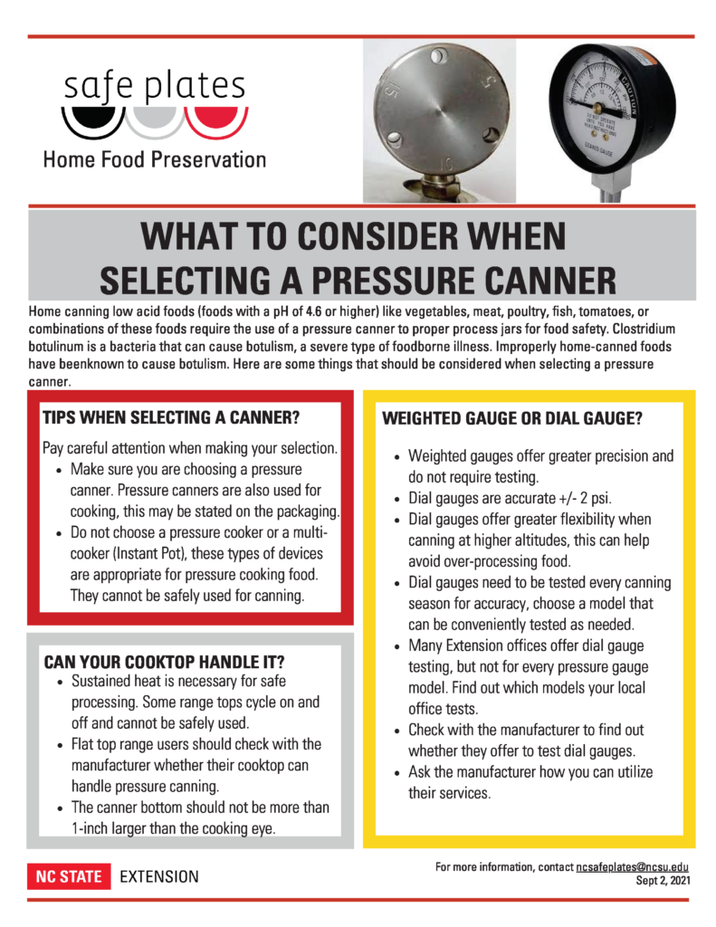 Considerations When Picking a Pressure Canner SafePlates